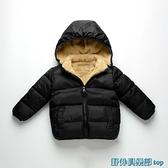 兒童外套 反季兒童棉衣男童羽絨棉服寶寶嬰兒加絨棉襖女童加厚保暖外套冬裝 快速出貨