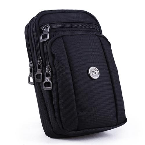 多功能男士穿皮帶腰包7.2寸手機包單肩斜跨掛包徒步運動手機腰包 璐璐