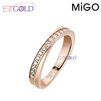 MiGO鋼飾♥珍愛-玫瑰金♥鋼飾戒指
