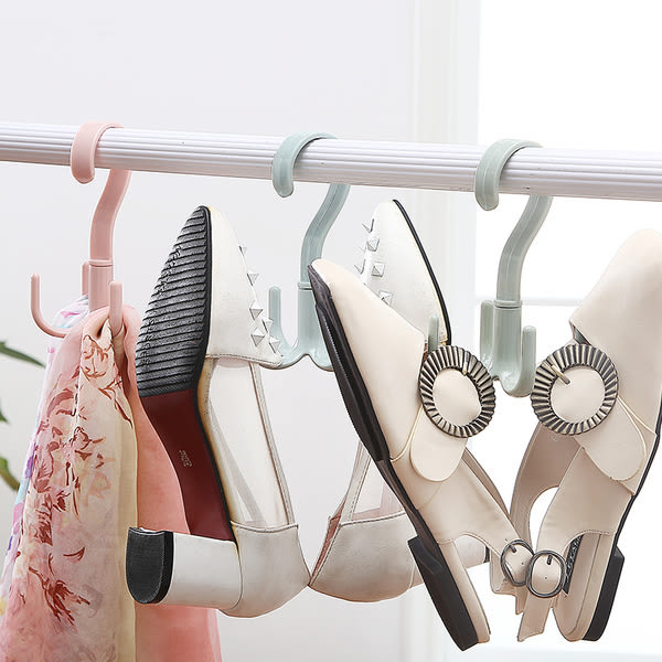 多用圍巾衣架皮帶包包收納架子 塑料衣服掛掛架掛S鉤掛衣架─預購CH1443