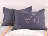 單人學生枕頭 宿舍枕芯送枕套成人一個裝男女可愛護頸低枕一對拍2ATF 米希美衣