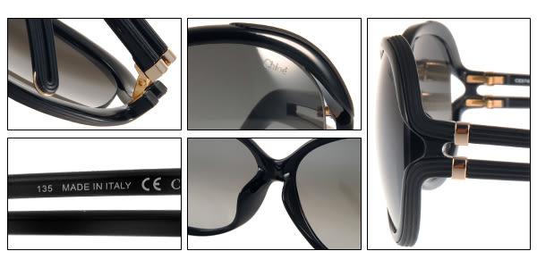 Chloe 太陽眼鏡 CL674SA 001 (黑) 完美質感簡約典藏款 # 金橘眼鏡