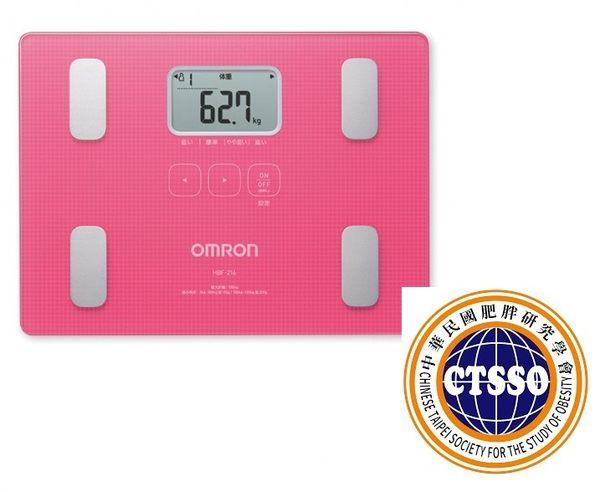 OMRON歐姆龍體脂肪機 HBF-216(粉紅色),限量加贈專用提袋(送完為止)