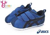 ASICS SUKU小童機能鞋 麂皮 藍配黑 魔鬼氈 運動鞋L7618#藍色◆OSOME奧森童鞋/小朋友