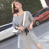 清倉$388 韓系寬鬆修身大口袋半身裙套裝短袖裙裝