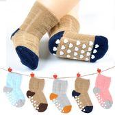 嬰兒襪子春秋冬季加厚保暖1-3-5歲寶寶純棉防滑底兒童無骨地板襪 街頭布衣