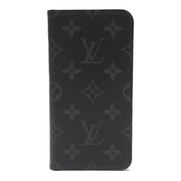 LOUIS VUITTON LV 路易威登 黑色原花XR手機套 iPhone Folio Case M67485【BRAND OFF】