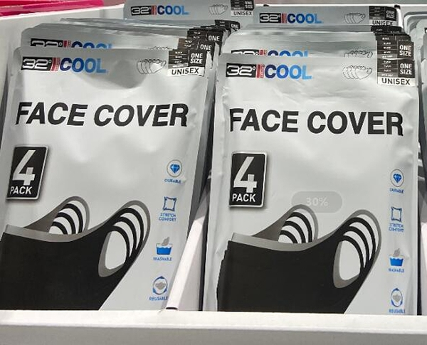 [COSCO代購] C1459779 32 DEGREES FACE COVER 涼感口罩4入 尺寸=單一尺寸