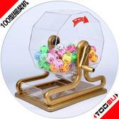 抽獎機-100型搖獎機雙色球選號機搖號機抽獎轉盤抽獎道具抽獎機手動搖獎 艾莎嚴選YYJ