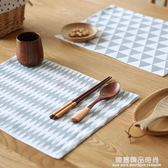 北歐風幾何動物圖形純棉餐墊布藝隔熱墊碗墊廚房桌布GD-3