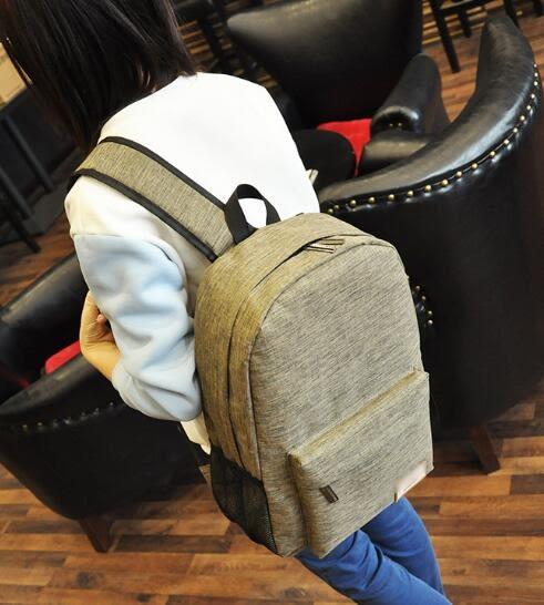 [24hr 火速出貨] 雙肩包 背包 後背包 韓版 無印 百搭 雙肩 學院風 情侶款 書包 大容量 休閒 學生
