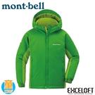 【Mont-Bell 日本 童 POWDER LT 雪衣《純綠》】1102428/休閒外套/纖維外套/防寒外套