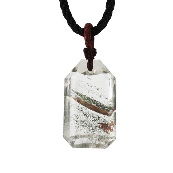 天然綠幽靈項鍊-夢境 石頭記
