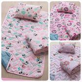 台灣製兒童睡墊 正版迪士尼授權 【米妮】睡墊 涼被 童枕3件組 幼稚園睡袋 多種款式