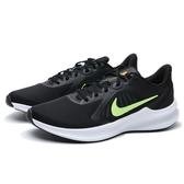 NIKE 慢跑鞋 DOWNSHIFTER 10 黑 白 螢光黃LOGO 輕量 運動 男 (布魯克林) CI9981-009