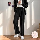 夏季西褲男大碼韓版寬松直筒闊腿休閑西裝長褲【大碼百分百】