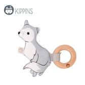 Kippins 澳洲 有機棉櫸木固齒器 / 動物造型固齒器 – 星星與小狼 WOLFIE KIPLET