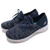 Skechers 休閒鞋 You Prominence 藍 灰 雪花 輕量透氣 走路鞋 健走鞋 女鞋【PUMP306】 15807NVGY