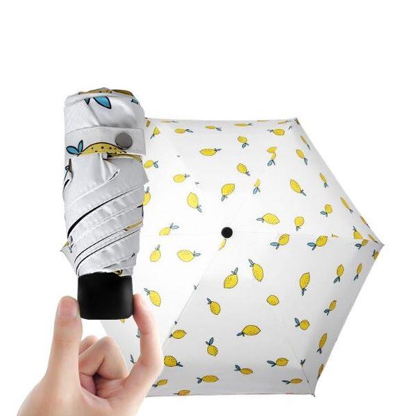 清新超輕太陽傘黑膠防紫外線晴雨傘折疊創意兩用防曬遮陽傘五折傘【時尚家居館】