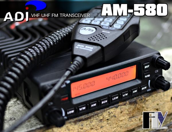 《飛翔無線》ADI AM-580 VHF UHF 雙頻車機〔 面板分離 雙顯雙收 開機密碼 航頻海頻 〕