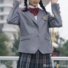 西裝外套 JK外套西服女黑色秋冬西裝長袖徽章制服學生上衣設計感小眾 618購物節