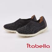 itabella.編織水鑽麻花輕量休閒鞋(0231-95黑色)