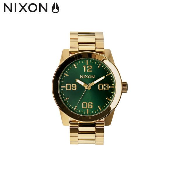 金綠 潮流鋼錶帶