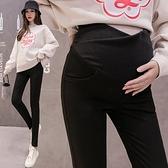漂亮小媽咪 韓系 孕婦 修身 顯瘦 小腳褲【P3202】低腰 交叉 托腹 長褲 孕婦褲
