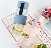 水杯 創意透明玻璃杯子女清新簡約森系便攜水瓶學生創意夏 - 古梵希