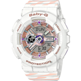 CASIO 卡西歐 Baby-G Chance 米蘭設計手錶-白 BA-110CH-7A / BA-110CH-7ADR