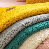 羊絨沙發墊加厚毛絨坐墊防滑皮沙發套罩全包萬能套【愛物及屋】