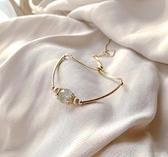 手鍊 水晶手鏈女小眾設計感ins送閨蜜女友14k包金抽繩信物飾品 16 俏俏家居