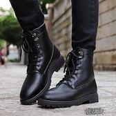 男潮鞋秋季男士英倫馬丁靴子高筒鞋潮流皮靴運動休閒短靴潮男軍靴 街頭布衣