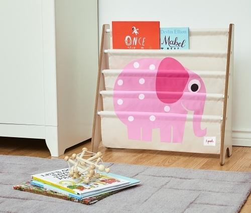 加拿大 3 Sprouts書架 加拿大設計的動物手繪風圖案 專為幼兒童量身打造的書架