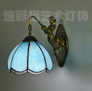 設計師美術精品館特價 簡約海藍色鐵藝壁燈、美人魚壁燈、童話色彩壁燈、鏡前燈