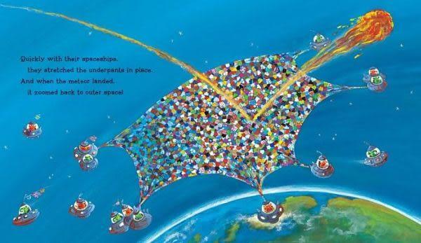 【麥克書店】ALIENS IN UNDERPANTS SAVE THE WORLD  /英文繪本附CD