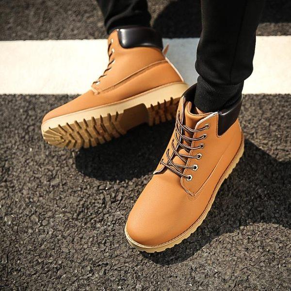 工裝鞋馬丁靴短靴英倫馬丁鞋子男士短靴工裝靴男軍靴登山靴男鞋聖誕狂歡好康八折