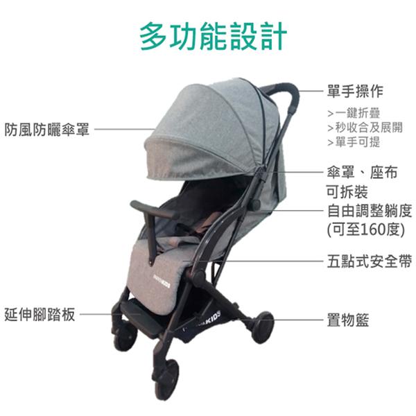 【輸碼折300】 PAPAYA KIDS 口袋車 秒收車 摺疊手推車 可登機 嬰兒推車 P30T 好娃娃
