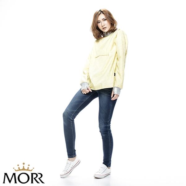 【MORR】Cheyenne反光風衣外套 【蛋蜜黃】防水/透濕/透氣/戶外活動/自體收納