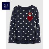 Gap x Disney女童 迪士尼系列米妮圖案長袖T恤 398018-海軍藍色