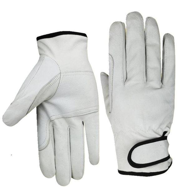電焊焊接手套羊皮薄款勞保手套高溫機械機修汽修勞工耐磨手套廠家    電購3C