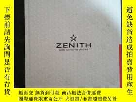 二手書博民逛書店ZENITH罕見WATCH MANUFACATURE SINCE
