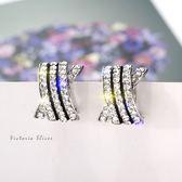 925純銀針  韓國優雅氣質   光彩亮麗魅力耳環-維多利亞1811142