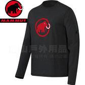 Mammut長毛象1041-07080-0397墨灰 男抗UV機能運動上衣Logo Shirt