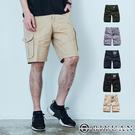 美式水洗 多口袋【OBIYUAN】工裝 工作短褲 五分 素面 休閒褲 5色【Y0879】