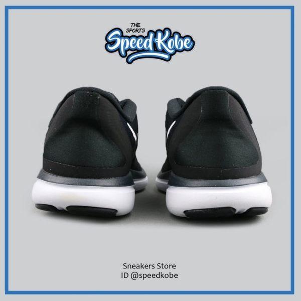 Nike 慢跑鞋 W Flex 2017 RN 黑白 網布 運動 女 898476-001【Speedkobe】