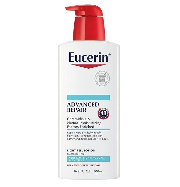 【彤彤小舖】Eucerin 伊思妮 Advanced Repair 高階修復長效保濕乳液 (無香 ,果酸) 500ml