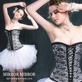 馬甲 拉夢爾蕾絲舞動塑身馬甲三色白-束身、表演服_蜜桃洋房