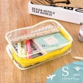走走去旅行99750【BJ001】PVC透明防水盥洗包 洗漱包 化妝包 旅行用品收納包 S號 多色隨機