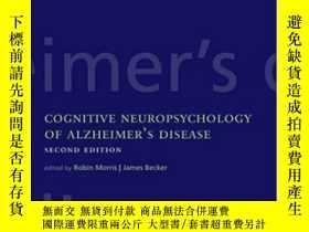 二手書博民逛書店Cognitive罕見Neuropsychology Of Alzheimer s Disease-阿爾茨海默病的
